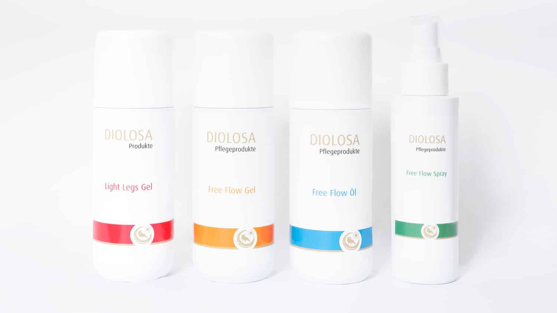 Diolosa Pflegeprodukte - dermatologisch getestet und als Kosmetikprodukt zertifiziert